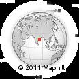 Outline Map of Visakhapatnam, rectangular outline