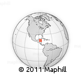"""Outline Map of the Area around 17° 50' 55"""" N, 85° 46' 30"""" W, rectangular outline"""