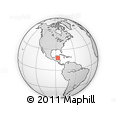 """Outline Map of the Area around 17° 50' 55"""" N, 86° 37' 30"""" W, rectangular outline"""
