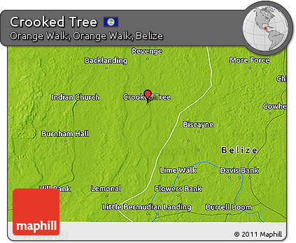 Physical 3D Map of Crooked Tree