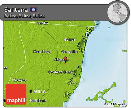 Physical 3D Map of Santana