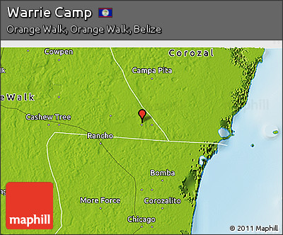 Physical 3D Map of Warrie Camp
