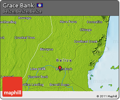 Physical 3D Map of Grace Bank