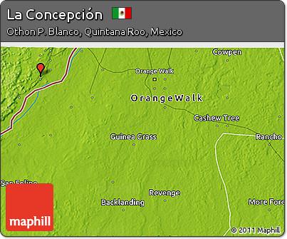 Physical 3D Map of La Concepción