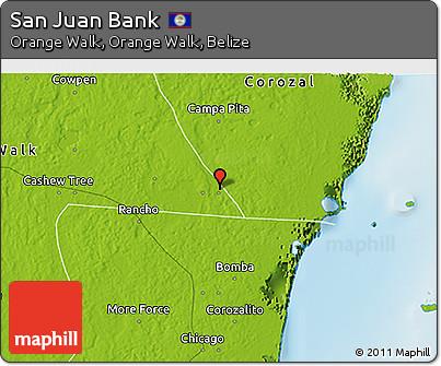 Physical 3D Map of San Juan Bank