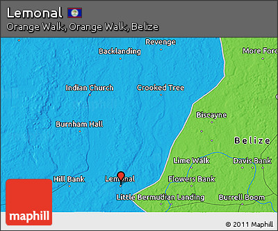 Political 3D Map of Lemonal