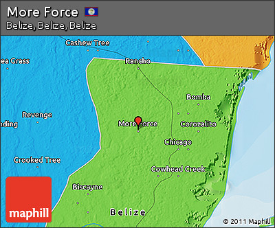 Political 3D Map of More Force