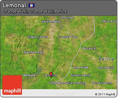 Satellite 3D Map of Lemonal