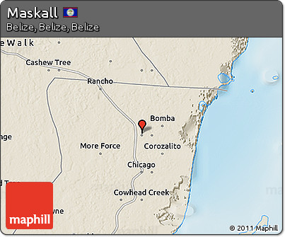 Shaded Relief 3D Map of Maskall
