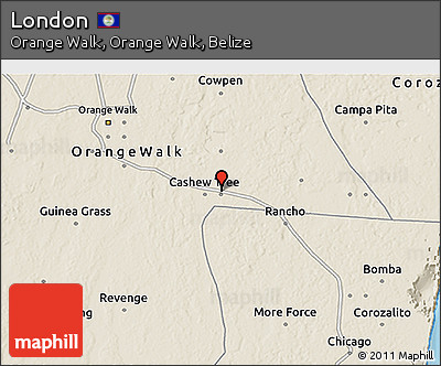 Shaded Relief 3D Map of London