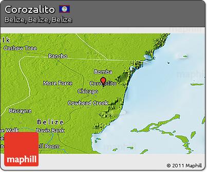 Physical Panoramic Map of Corozalito