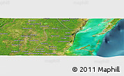 Satellite Panoramic Map of May Pen