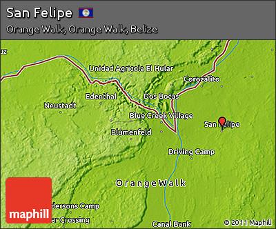 Physical 3D Map of San Felipe