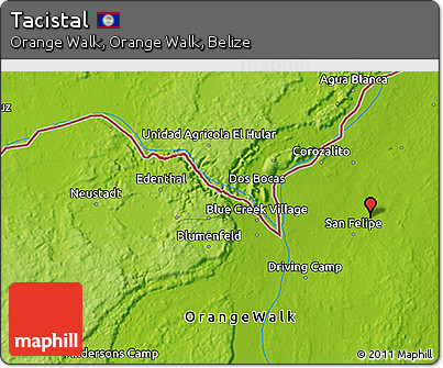 Physical 3D Map of Tacistal