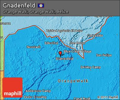 Political 3D Map of Gnadenfeld