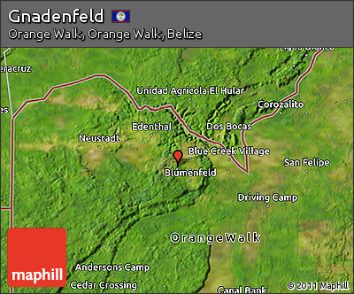 Satellite 3D Map of Gnadenfeld