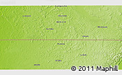 "Physical 3D Map of the area around 17° 50' 55"" N, 90° 1' 30"" W"