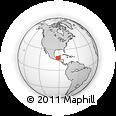 Outline Map of Chiapas, rectangular outline