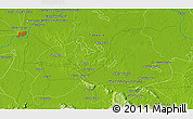 """Physical 3D Map of the area around 17°50'55""""N,92°34'29""""W"""