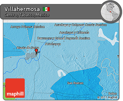 Free Political 3d Map Of Villahermosa