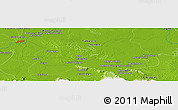 """Physical Panoramic Map of the area around 17°50'55""""N,92°34'29""""W"""