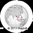 Outline Map of Gwa, rectangular outline