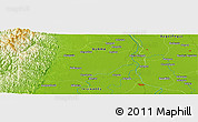 "Physical Panoramic Map of the area around 17° 50' 55"" N, 95° 16' 30"" E"