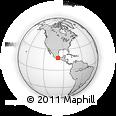 Outline Map of Temalacatzingo, rectangular outline