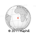 Outline Map of Fiji, rectangular outline