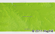 """Physical 3D Map of the area around 17°30'31""""S,124°10'30""""E"""