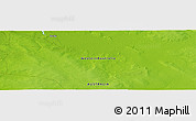"""Physical Panoramic Map of the area around 17°30'31""""S,124°10'30""""E"""