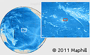 "Shaded Relief Location Map of the area around 17° 30' 31"" S, 148° 40' 30"" W"