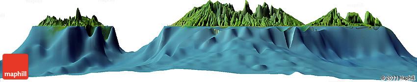 Satellite Horizon Map of Mahaena