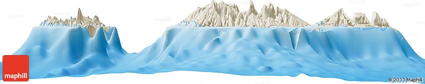 Shaded Relief Horizon Map of Haapiti