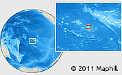 Shaded Relief Location Map of Avae