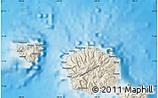 Shaded Relief Map of Mahina