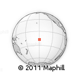 Outline Map of Tahiti, rectangular outline