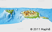 Physical Panoramic Map of Huau