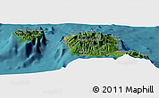 Satellite Panoramic Map of Faarumai