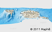 Shaded Relief Panoramic Map of Faarumai