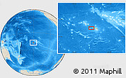 "Shaded Relief Location Map of the area around 17° 30' 31"" S, 150° 22' 30"" W"