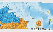 Political 3D Map of Levuka