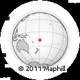 Outline Map of Katafanga Island, rectangular outline