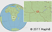 "Savanna Style Location Map of the area around 17°30'31""S,24°43'30""E"