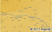 """Physical Map of the area around 17°30'31""""S,24°43'30""""E"""