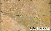 "Satellite Map of the area around 17°30'31""S,24°43'30""E"