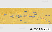 """Physical Panoramic Map of the area around 17°30'31""""S,24°43'30""""E"""