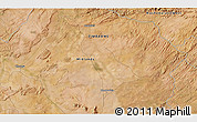 """Satellite 3D Map of the area around 17°30'31""""S,28°58'30""""E"""