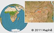 "Satellite Location Map of the area around 17°30'31""S,28°58'30""E"