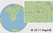 "Savanna Style Location Map of the area around 17°30'31""S,28°58'30""E"